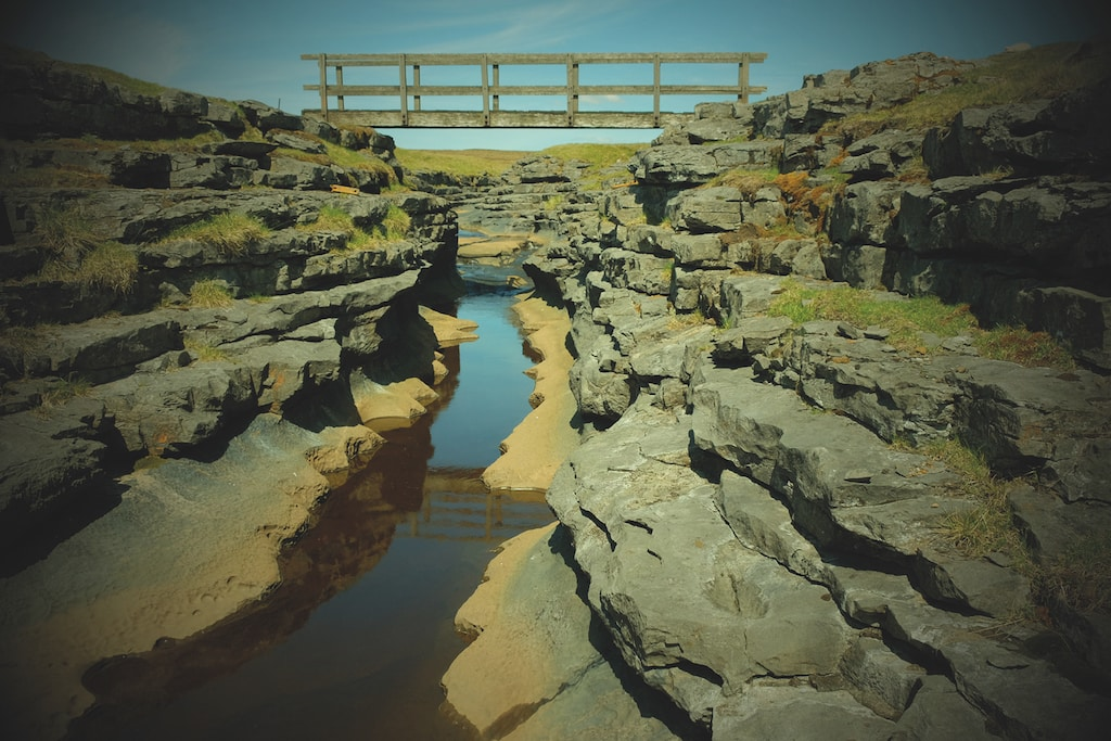 Maize Beck bridge at High Cup Nick stands out against dramatic rock structures in this super photo taken by Simon Cove.