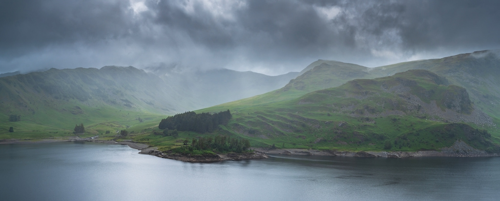This atmospheric panorama of Haweswater shrouded in mist was taken by Fine Light Images, Askham.