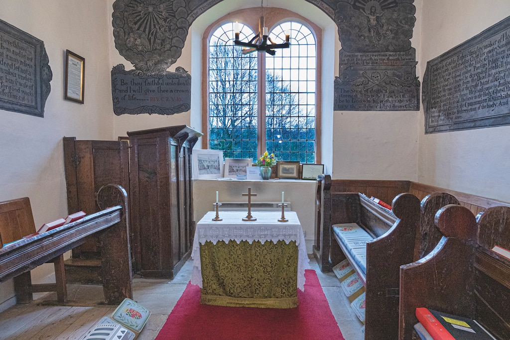 Alan Oakes, of Appleby, took this photo of the tiny chapel, in the town's St Anne's Almshouses.