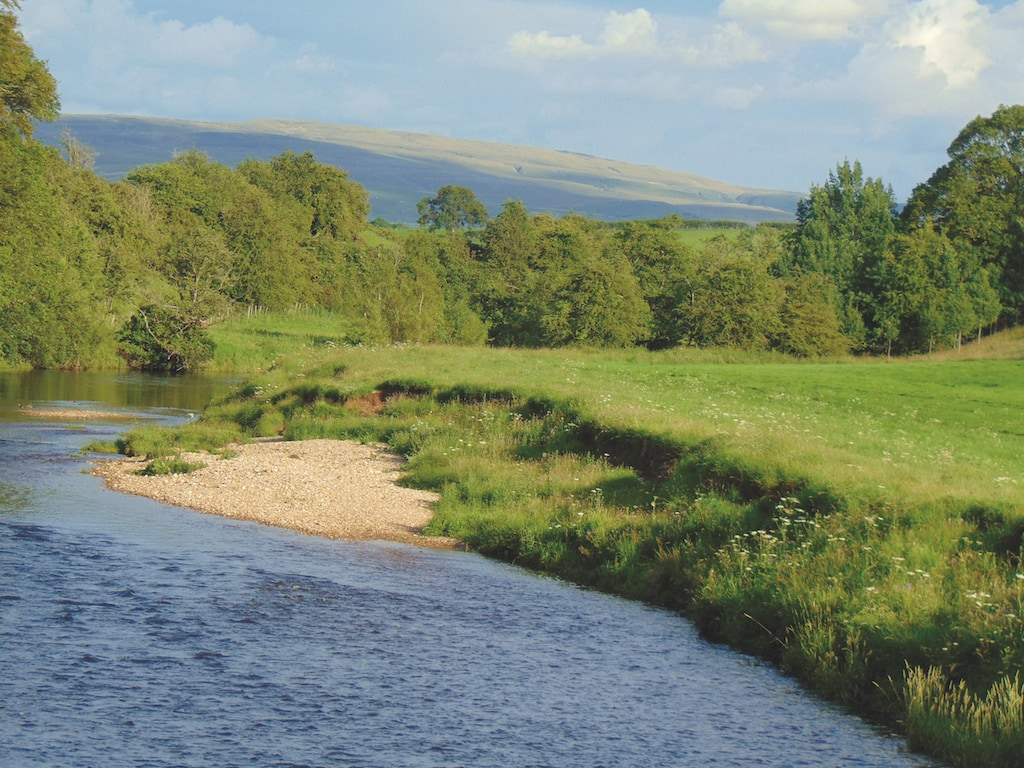 Fields border the River Eden, at Warcop, in this shot by Caroline Shaw, of Bleatarn.