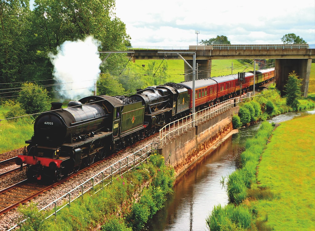 This steam train was spotted heading north along the West Coast main line at the weekend by Rob Young, of Penrith.