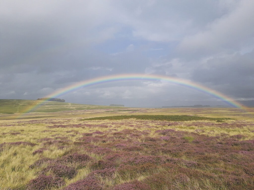 A rainbow arcs over Helton Common in this photo taken by Nadia Soliman, of Tirril.