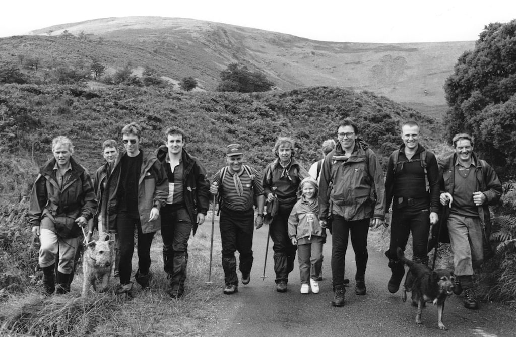 Some of the people who took part in the first Threlkeld parish boundary walk, staged 25 years ago to raise money for the village hall.