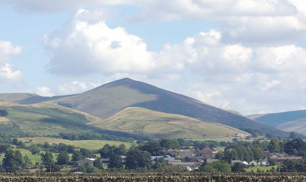 The village of Dufton near Appleby with Dufton Pike in the background