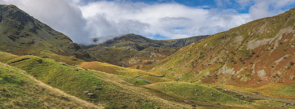 A panoramic shot near Haweswater, by Fine Light Images ,of Askham