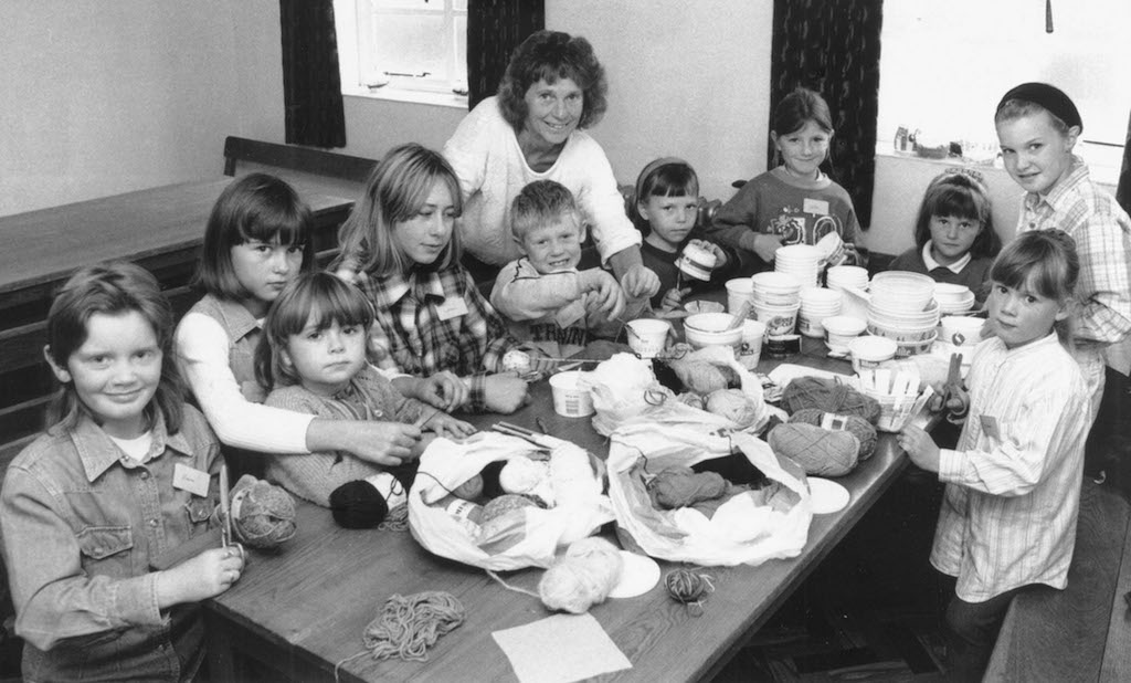 Jill Sleigh gives children tips on making bread baskets at an event about life in India organised by the Kirkby Stephen, Appleby and Tebay Methodist Circuit.