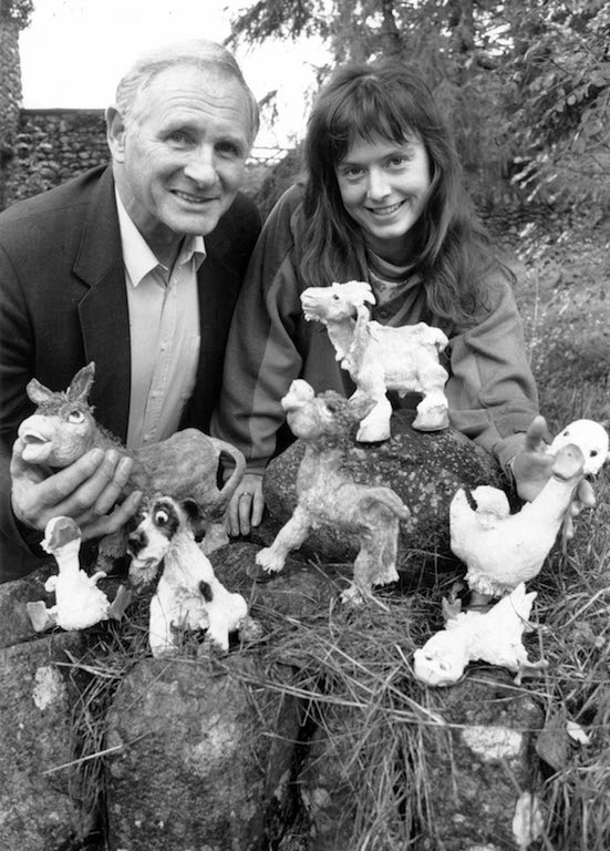 David Heritage and Linda Stephenson, of Keswick-based giftware company Aspects of Art, with some of the Buttercup Farm models which proved a hit at a gift fair in 1995, resulting in the creation of job opportunities with the firm.