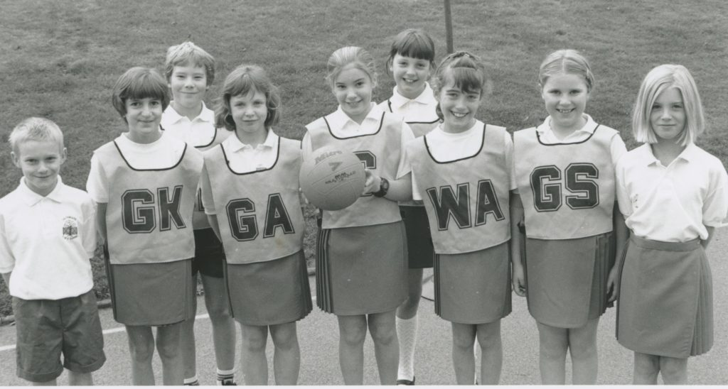 Calthwaite School netballers show off their new kit, given to them by the school. Pictured (left to right) are James Storey, Sammy Addison, Craig Robinson, Kate Turner, Gina Morris, Jennifer Brown, Amy Jones, Joanne Harrison and Holly Esplin.