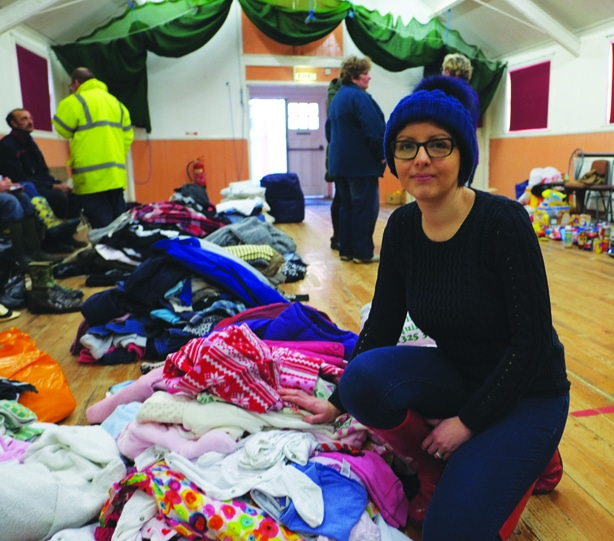 Tanya Tinkler, of Eamont Bridge, who helped co-ordinate donations of food and clothing in the village hall for flood victims.