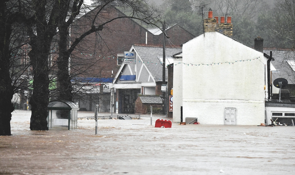 Businesses under water on The Sands inAppleby.
