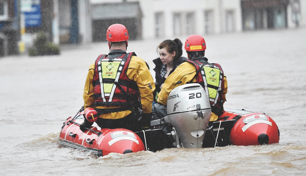 A resident of Appleby is rescue by firefighters.