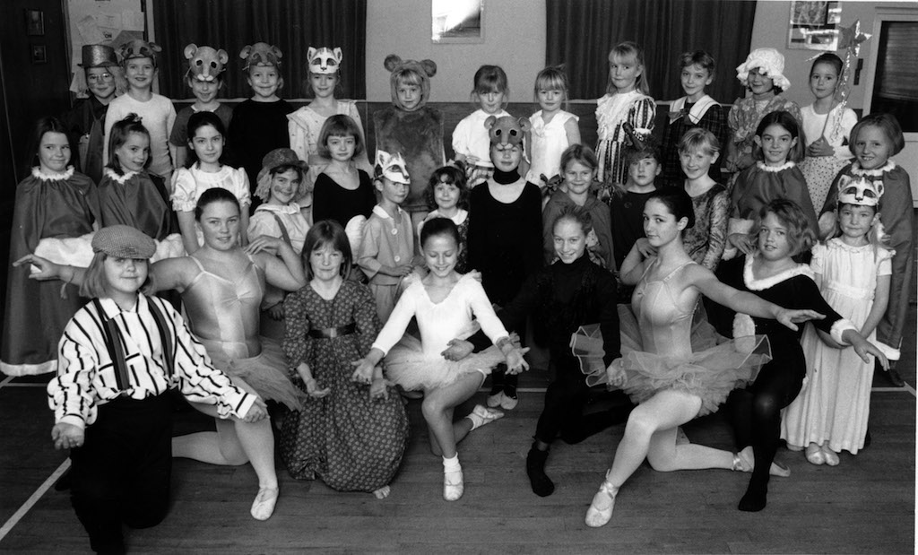Members of the Langwathby-based Janet Hurst Theatre and Ballet School who were preparing to present dance items and excerpts from modern musicals at Ullswater Community College, Penrith, 25 years ago.
