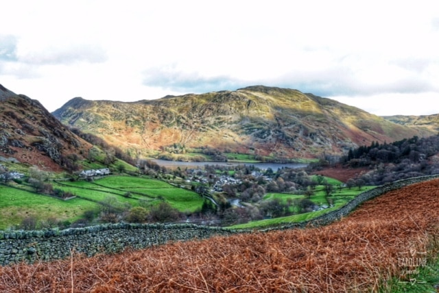Caroline Herety, view of Glenridding and Ullswater