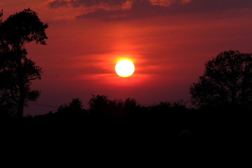 Stephen Cylkowski, sunset at Sowerb Row looking towards Carlisle
