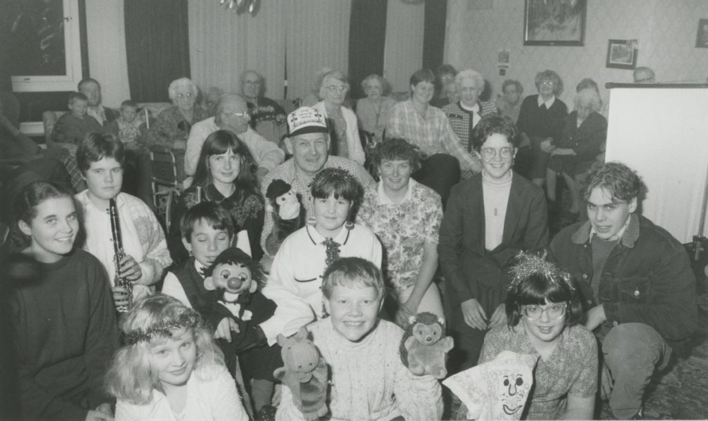 Kirkby Stephen youth action group members who performed a special concert for residents of the town's Christian Head 25 years ago.
