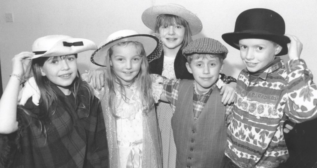 Great Salkeld parish youngsters provided the entertainment at an event held to mark the centenary of the village hall. Pictured are (left to right) Leonie Canniffe, Sarah Armstrong, Collette Canniffe, Owen Convey and Michael Dillan.