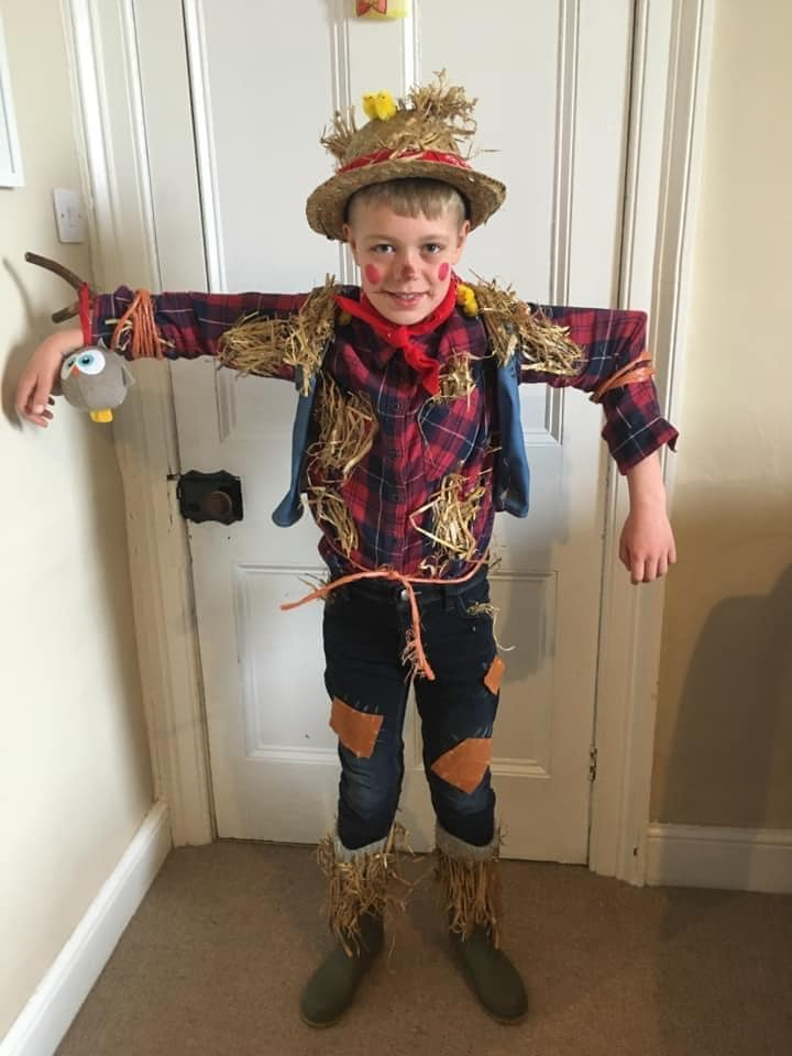 Archie Steel enjoyed being the scarecrow from The Scarecrow's Wedding by Julia Donaldson, from Kirkby Stephen Primary School