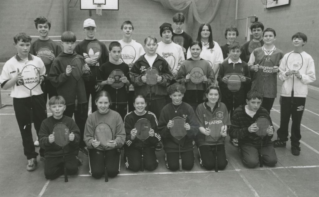 Some of the competitors who took part in an Eden Valley Junior Badminton League championship tournament held in Penrith 25 years ago.
