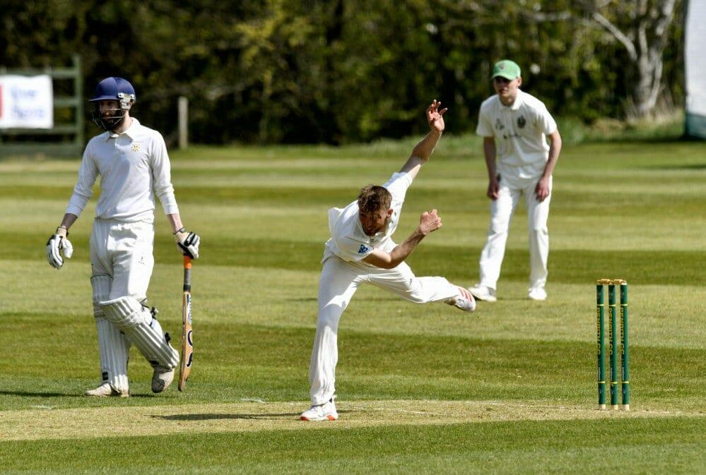 Cricket. Penrith v Eccleston Cricket Club. Bowler Asher Hart: 24 April 2021 STUART WALKER  Stuart Walker Photography 2021