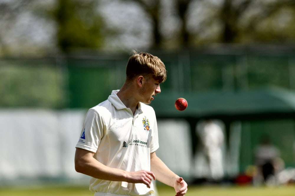 Cricket. Penrith v Eccleston Cricket Club. James Ellis: 24 April 2021 STUART WALKER  Stuart Walker Photography 2021
