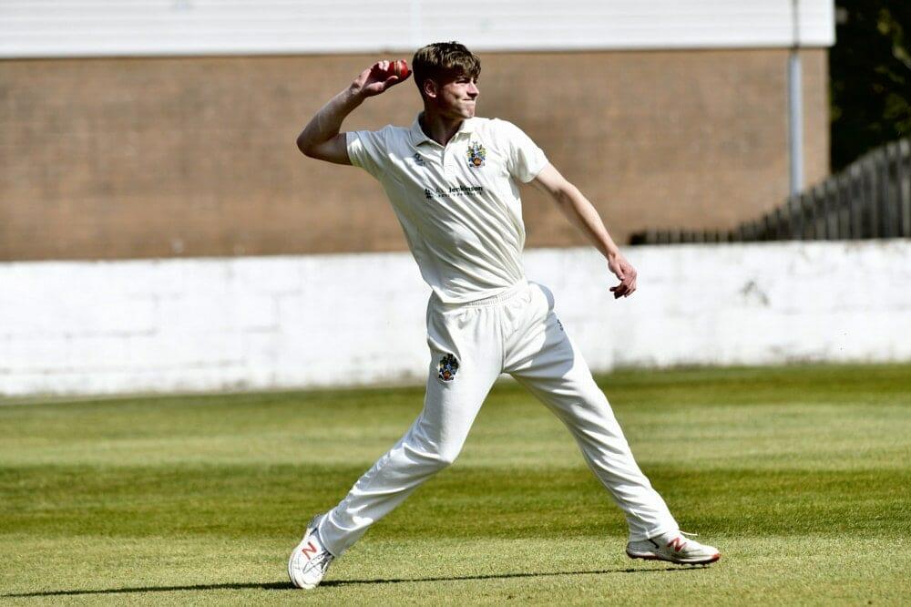 Cricket. Penrith v Eccleston Cricket Club. Fielding James Ellis: 24 April 2021 STUART WALKER  Stuart Walker Photography 2021