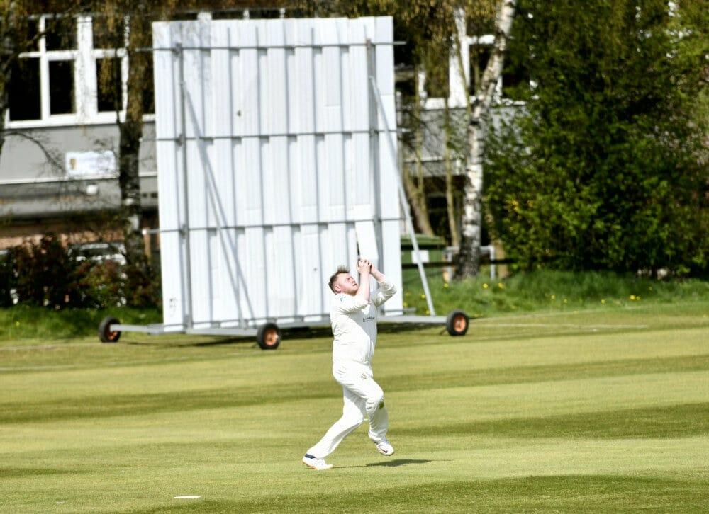 Cricket. Penrith v Eccleston Cricket Club. Owen Jones takes the catch: 24 April 2021 STUART WALKER  Stuart Walker Photography 2021