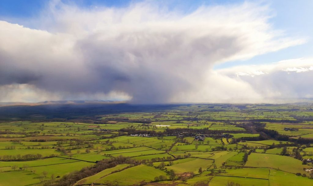 Cold April shower heading for Dufton Eden Valley by Alan Hinkes. Penrith and the Border is to benefit from a £10m fund to protect the natural environment.