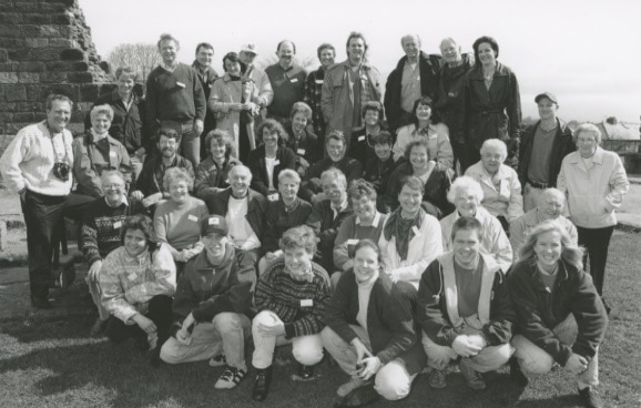 Pictured at Penrith Castle Park in 1996 are members of the Hindson family who staged a reunion. Around 100 members of the family, including some from Canada and America, attended