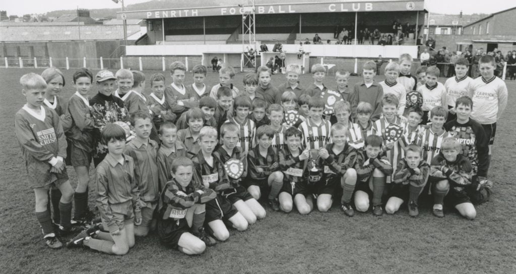 Youngsters who took part in the first Penrith and District schools league soccer championship 25 years ago, which was won by North Lakes School.