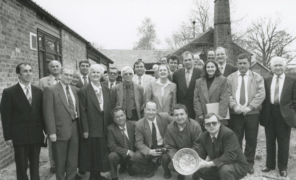 Mark Hodgson (front right), manager of Wetheriggs Pottery, near Penrith, and members of Eden Council with a party of mayors from Bulgaria who visited Cumbria for a tourism study visit in 1996