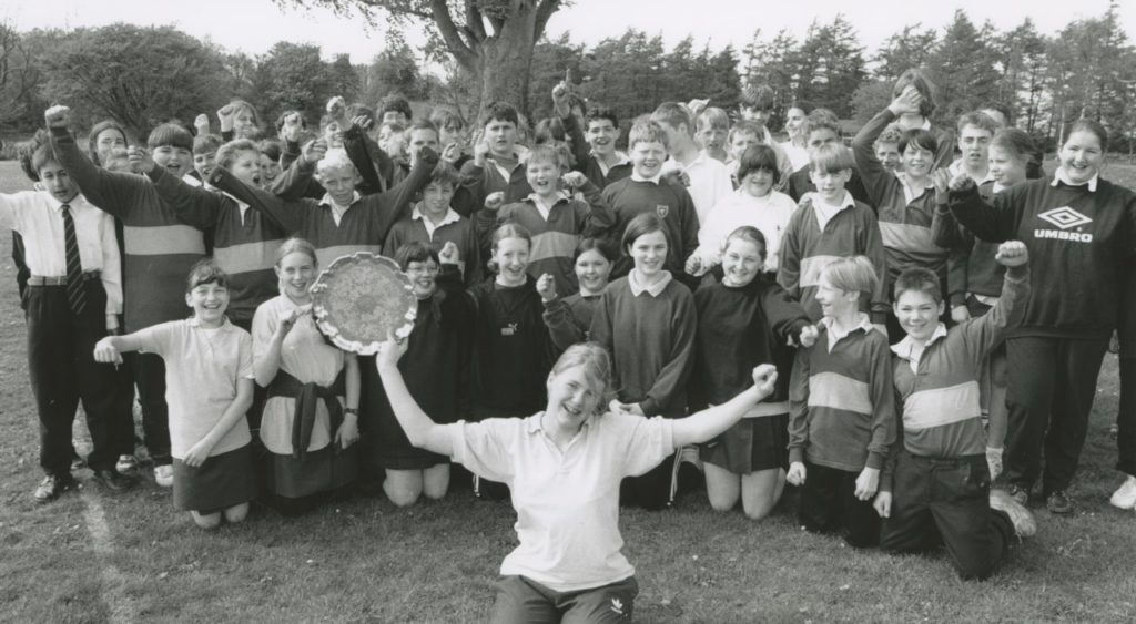 Kirkby Stephen Grammar School pupils battled it out in a series of track and field events at their sports day 25 years ago.
