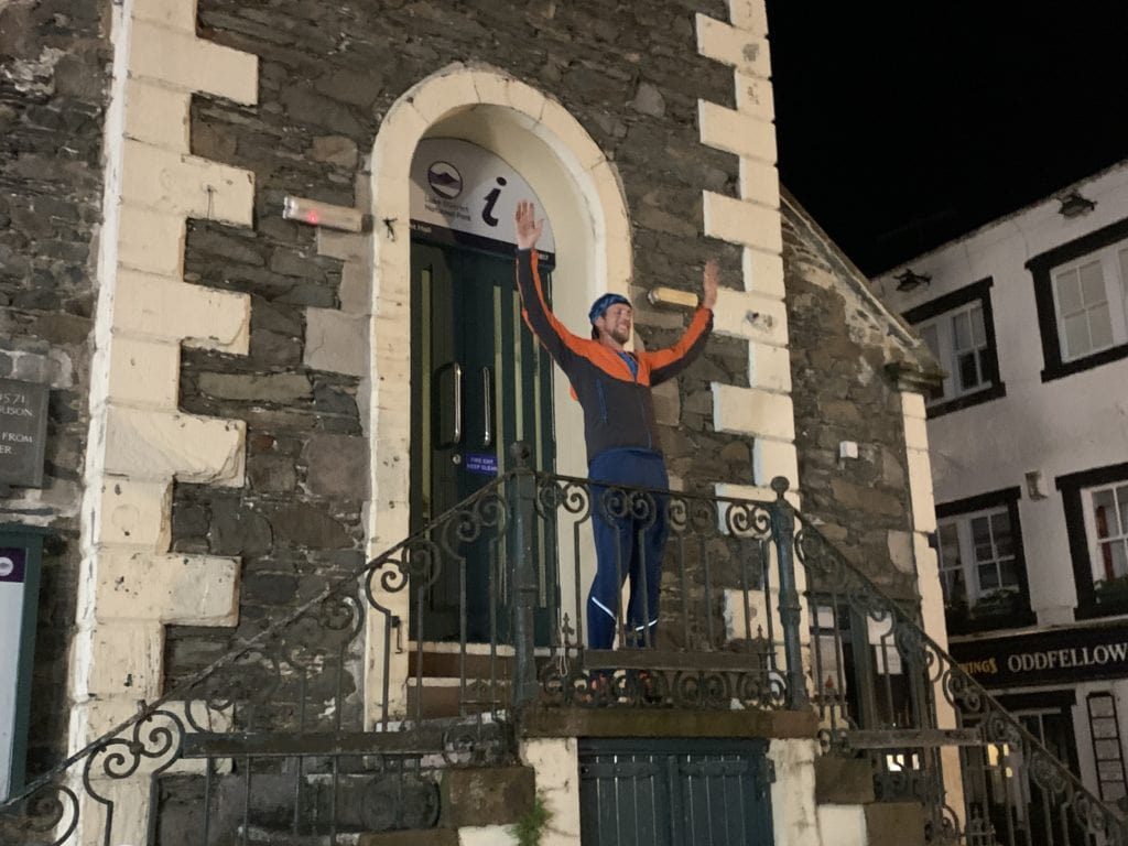 A Cumbrian police officer has become the first person to continuously traverse all four national 24-hour mountain challenges. At 01.48 today, Ross Jenkin touched the door of the Moot Hall in Keswick having become the first person to make a continuous traverse of all four national 24-hour mountain challenges.