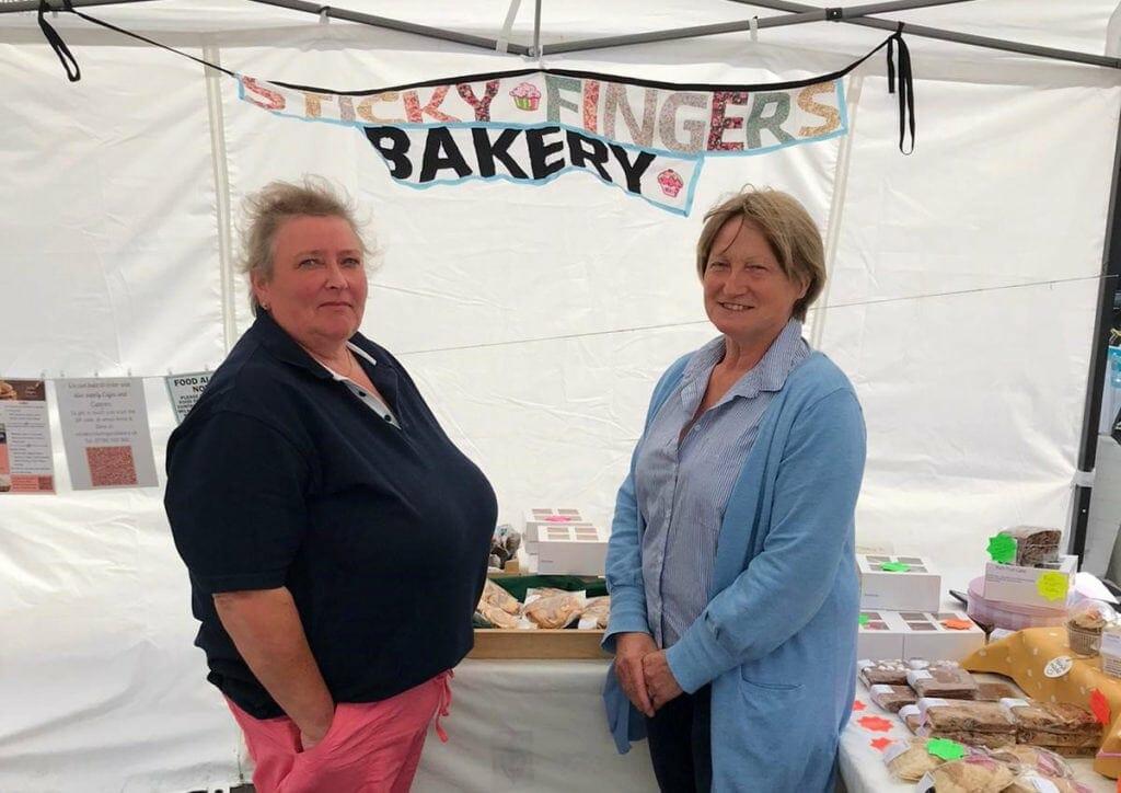Zena Watkinson and Anne Johnston of Sticky Fingers Bakery
