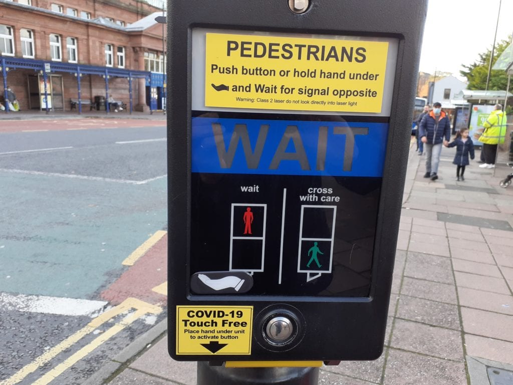 Touch-free technology is to be installed more than 50 pedestrian crossings in Cumbria.