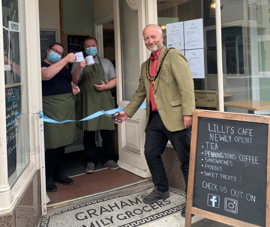 lilly's Cafe officially opened by Gareth Hayes