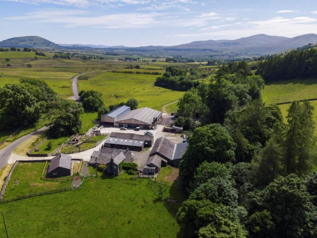 Aerial photo of Low Beckside Farm